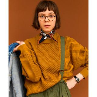 SUNSEA - YASHIKI 19AW Arare Knit MUSTARD 新品未使用タグ付