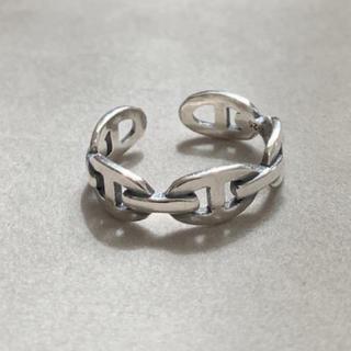 シルバー925 Hデザインスリムリング チェーン シルバー(リング(指輪))