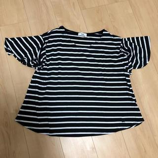 ロデオクラウンズワイドボウル(RODEO CROWNS WIDE BOWL)のRodeoCrowns  美品 フリルスリーブ ボーダーTシャツ(Tシャツ(半袖/袖なし))