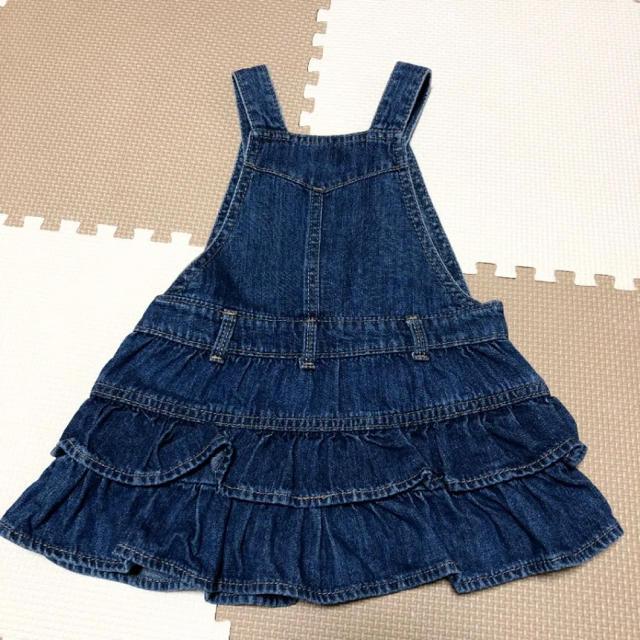 babyGAP(ベビーギャップ)の【美品】babyGap デニム ジャンパースカートワンピース 80 キッズ/ベビー/マタニティのベビー服(~85cm)(ワンピース)の商品写真