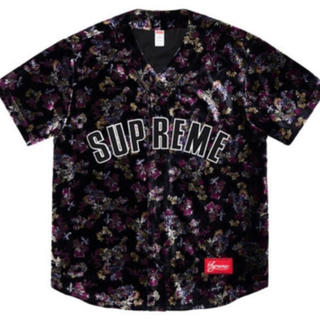 シュプリーム(Supreme)のSupreme Floral Velour Baseball Jersey L(シャツ)