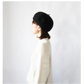 ネストローブ(nest Robe)のフレンチブル ボニーベレー ブラック(ハンチング/ベレー帽)
