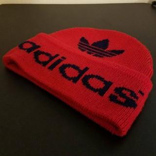 adidas - 90's ヴィンテージ adidas トレフォイルロゴ ニット帽 ビーニー