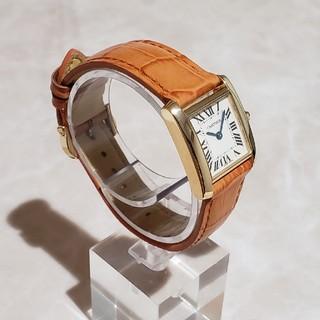 カルティエ(Cartier)のCartier カルティエ タンクフランセーズ K18WG ギフト包装対応可(腕時計)