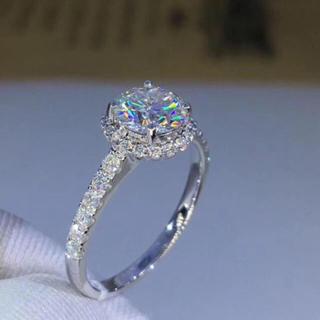 モアサナイト  ダイヤモンド リング(リング(指輪))