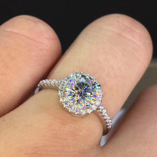 【1カラット】モアサナイト  ダイヤモンド リング(リング(指輪))