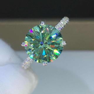 【newデザイン】輝く 5カラット  モアサナイト  ダイヤモンド リング(リング(指輪))
