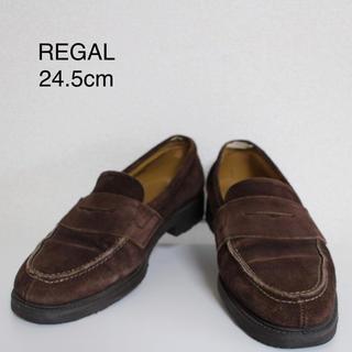 リーガル(REGAL)の[ REGAL ] リーガル スエード ローファー 24.5cm ブラウン(ドレス/ビジネス)