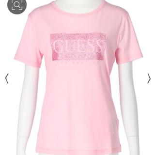 ゲス(GUESS)の新品】guess / ピンクラメTシャツ シンプルトップス(Tシャツ(半袖/袖なし))