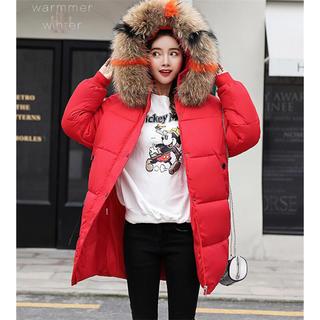 ミディアムロング 韓国 ゆったりする ウィンター コットンジャケット コート