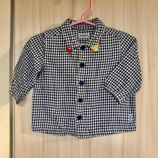 ミキハウス(mikihouse)のミキハウス 黒チェックシャツ 70(シャツ/カットソー)
