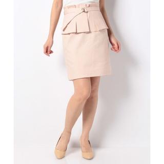 ビーラディエンス(BE RADIANCE)のビーラディエンス ペプラムスカート 新品 ピンク(ひざ丈スカート)