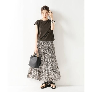 ノーブル ニュアンスプリーツマキシスカート 36サイズ