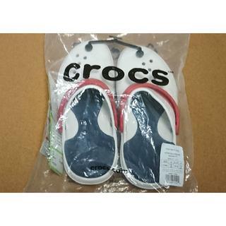 クロックス(crocs)のcrocs サンダル ホワイト 24cm ユニセックス 未使用 タグ付き(サンダル)