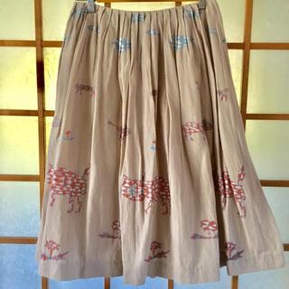 ミナペルホネン(mina perhonen)のmina (mina perhonen) tamaスカート(ロングスカート)