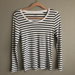 ジーユー(GU)の長袖 ボーダーTシャツ  GU(Tシャツ(長袖/七分))
