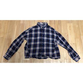 ジーユー(GU)のgu チェックシャツ Sサイズ(シャツ/ブラウス(長袖/七分))