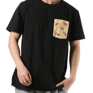 新品】DEAR LAUREL / 黒 ワンポイントTシャツ UVカットメンズ M(Tシャツ/カットソー(半袖/袖なし))
