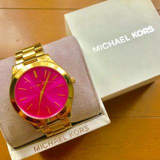 マイケルコース(Michael Kors)の【大特価!!】LADIES MICHAEL KORS腕時計 ピンク×ゴールド🎀(腕時計)
