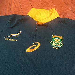 アシックス(asics)のラグビー 南アフリカユニフォーム ポロシャツMサイズ(ラグビー)