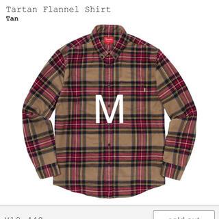 Supreme - 希少カラー【M】supreme tartan flannel shirt tan