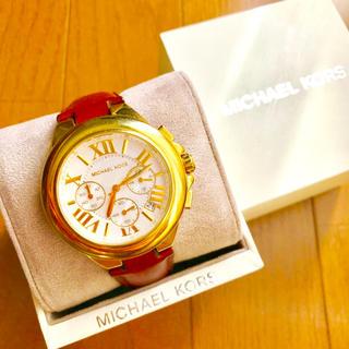 マイケルコース(Michael Kors)の【大特価!!】LADIES マイケルコース 英字クロノグラフ腕時計 ゴールド🎀(腕時計)