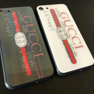 Gucci - GUCCI ブラック ホワイト iPhone7/8