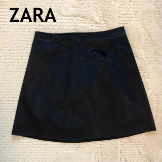 ZARA - ZARA 黒ハラコ スカート