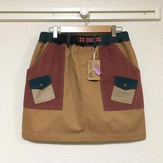 新品・未使用タグ付き♪秋色 アウトドアスカート♪(ミニスカート)