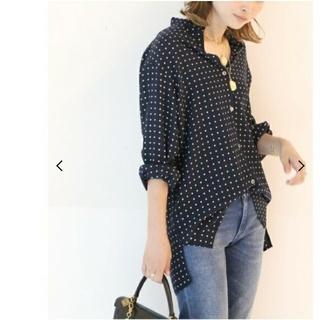 DEUXIEME CLASSE - ドゥーズィエムクラス BINDA Silk ドットプリントシャツ