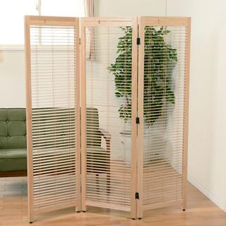 送料無料【新品】天然木 桐材使用 ルーバースクリーン 間仕切り アウトレット(ブラインド)