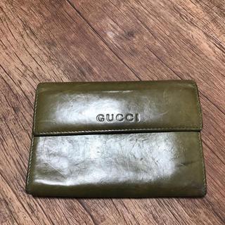 グッチ(Gucci)のGUCCI グッチ グリーン 二つ折り 財布(財布)