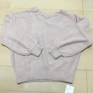 ダブルクローゼット(w closet)の新品未使用✨ダブルクローゼット ビジュー付きニット(ニット/セーター)