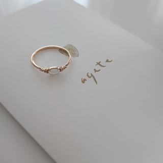 agete - agete アガット オパール ダイヤモンド K10 リング