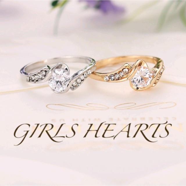 送料無料9号クロムシルバースーパーCZダイヤモンドデザイナーズシルバーリング指輪 レディースのアクセサリー(リング(指輪))の商品写真