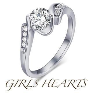送料無料10号クロムシルバースーパーCZダイヤデザイナーズジュエリーリング指輪(リング(指輪))