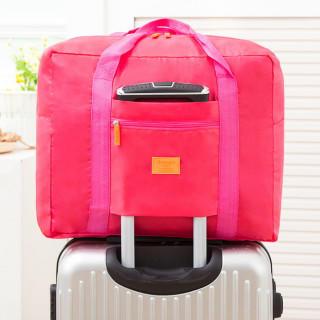 折りたたみ バッグ ピンク 旅行 大容量 トラベル 出張 軽量 防水 レディース(スーツケース/キャリーバッグ)