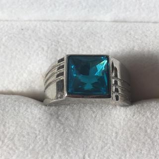 青い石のリング(リング(指輪))