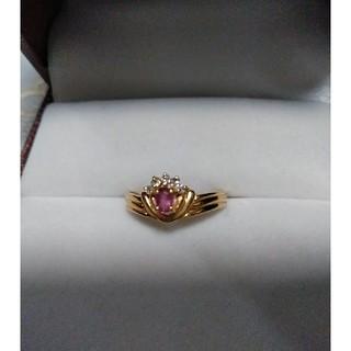 リング K18   ルビー ダイヤモンド(リング(指輪))