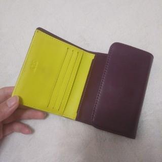 スライ(SLY)のSLY バイカラー 折りたたみ財布 mini wallet 本革(財布)