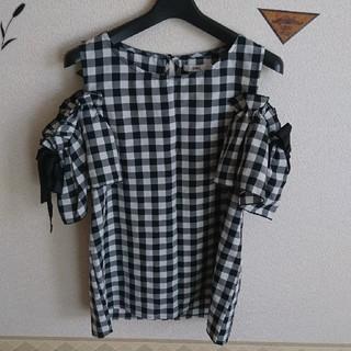 GRL - ギンガムチェックGRLオフショルシャツ