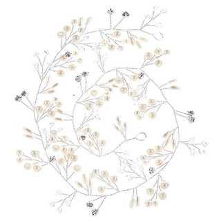 小枝とお花モチーフ ヘッドドレス 髪飾り ボンネ  ティアラ ウエディング(その他)