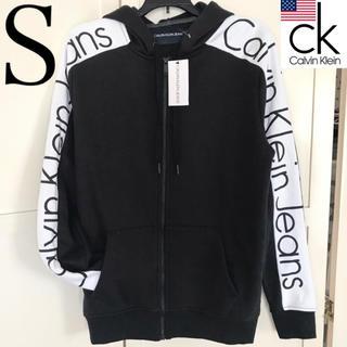 Calvin Klein - レア 新品 Calvin Klein USA メンズロゴパーカー 黒 S