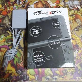 ニンテンドー3DS - [良品]New3DSLL(黒) 画面保護フィルム&充電器付き