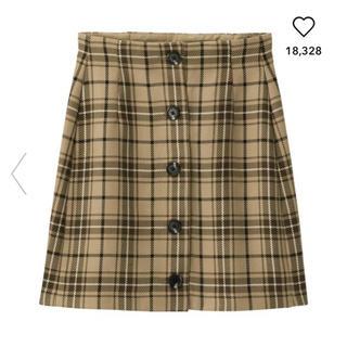 GU - GU 今期 チェックスカート♡  XL