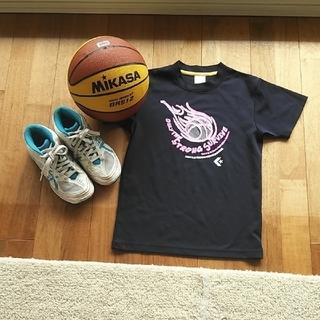 ★☆ミニバスセット、バッシュ、ボール、Tシャツ★☆