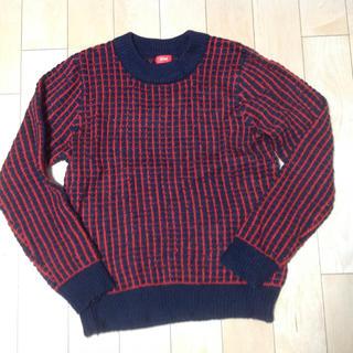 ロデオクラウンズワイドボウル(RODEO CROWNS WIDE BOWL)のロデオクラウンズ ニットセーター 赤×紺(ニット/セーター)
