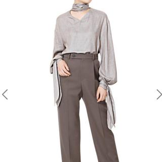 ルシェルブルー(LE CIEL BLEU)のp46様専用 チェックスカーフシャツ・ケープニット(シャツ/ブラウス(長袖/七分))