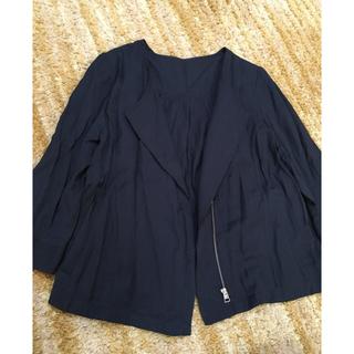 シマムラ(しまむら)の新品 未使用 タグ付き しまむら ノーカラー ジャケット(ノーカラージャケット)