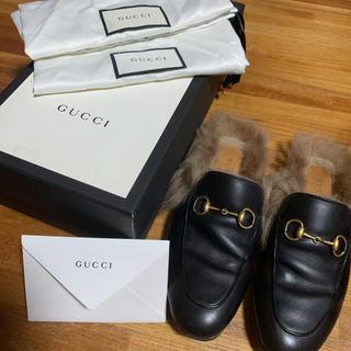 グッチ(Gucci)のGUCCIプリンスタンファー付きスリッパ(ローファー/革靴)